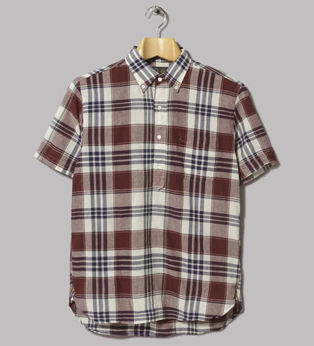 Indian madras popover shirt by Beams Plus
