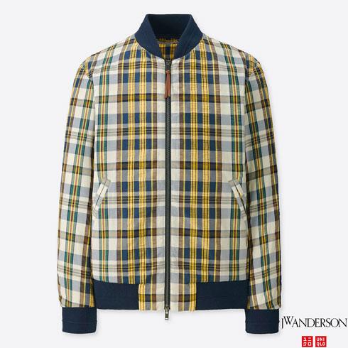 Uniqlo x J.W. Anderson seersucker bomber jacket