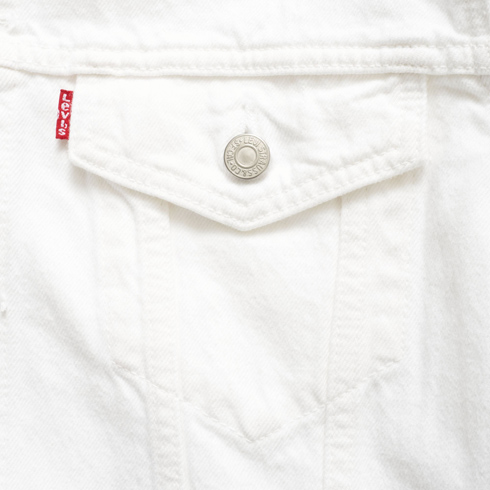 Return of a classic: Levi's trucker jacket in white