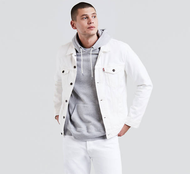 Sale watch: Levi's trucker jacket in white