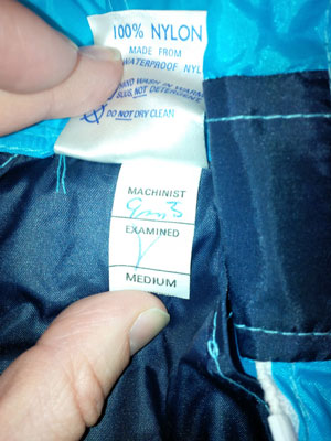 eBay watch: Unworn 1980s Patrick cagoule in blue
