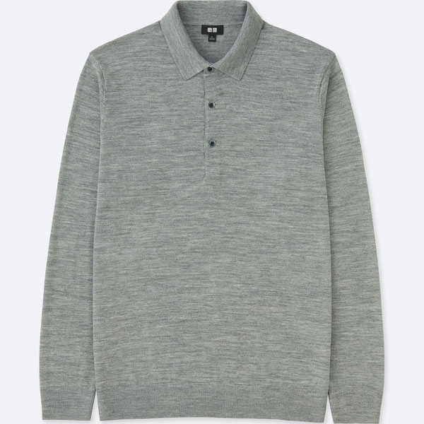 Uniqlo extra fine long-sleeve merino polo shirts