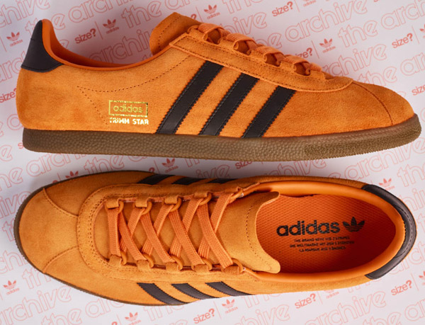 35a9ff527f9 Size  debuts Adidas Trimm Star trainers in a pumpkin finish - His Knibs