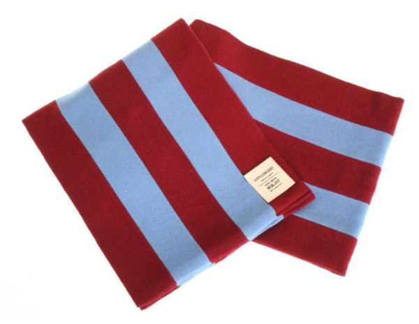 Appleberry college-style football scarves