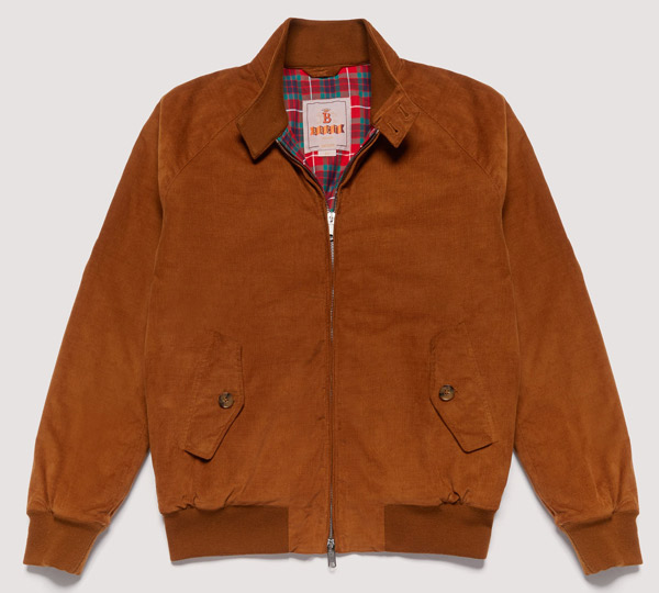 Winter warmer: Baracuta G9 corduroy Harrington Jacket