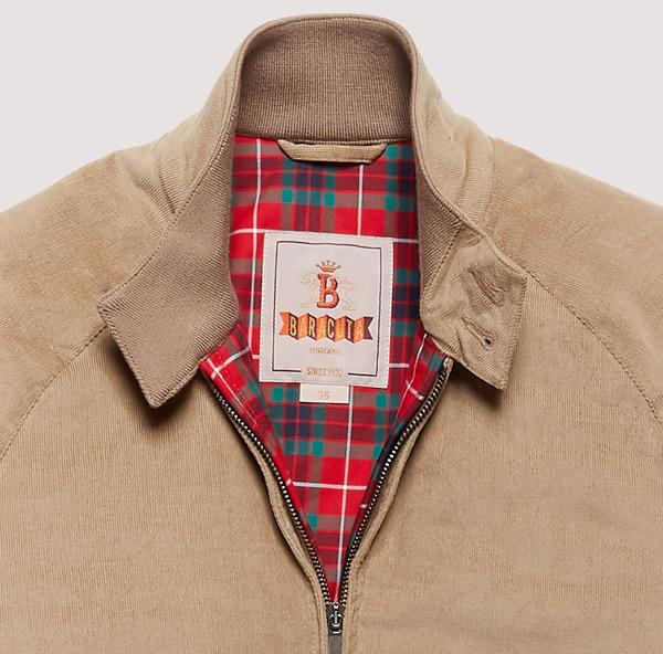 Winter warmer: Baracuta G9 corduroy Harrington Jacket
