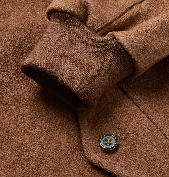 Beams Plus harrington-style suede blouson jacket