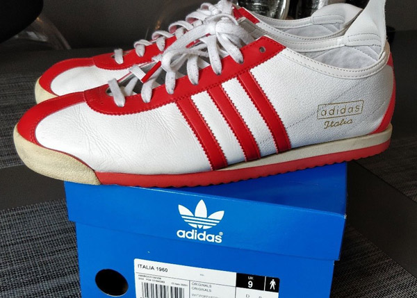 f85e83fb701 Ebay spotting  Adidas Italia 1960 trainers in white and red