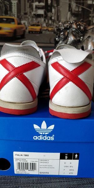 Ebay spotting: Adidas Italia 1960 trainers in white and red
