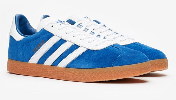 Adidas Gazelle trainers go back to basics in blue and red