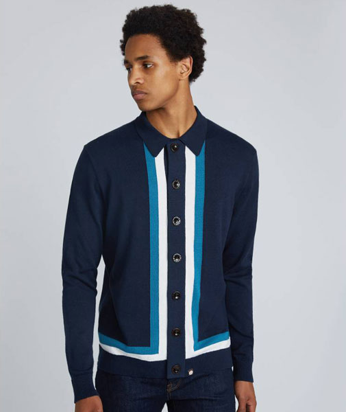 Sale watch: 1960s-style Contrast Panel Knitted Shirts at Pretty Green