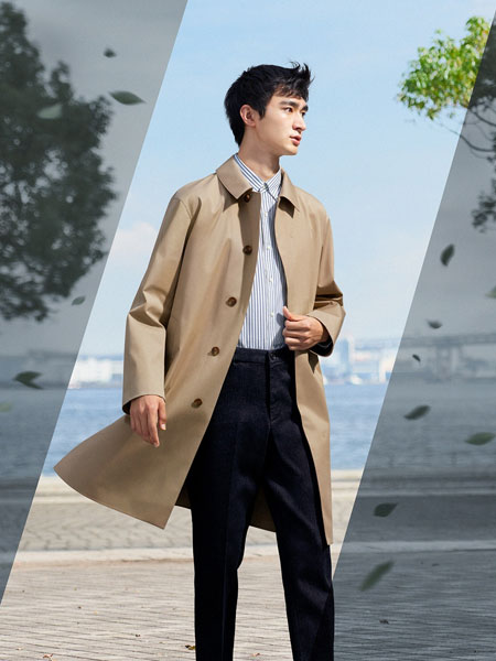 Blocktech classic raincoat at Uniqlo