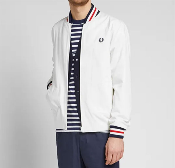 Fred Perry Original Tennis Bomber Jacket returns in white