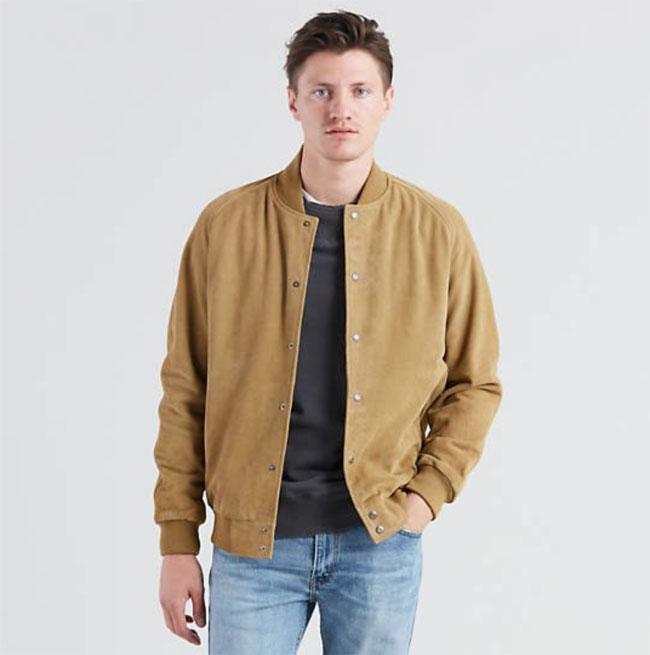 Levi's classic suede Varsity Jacket