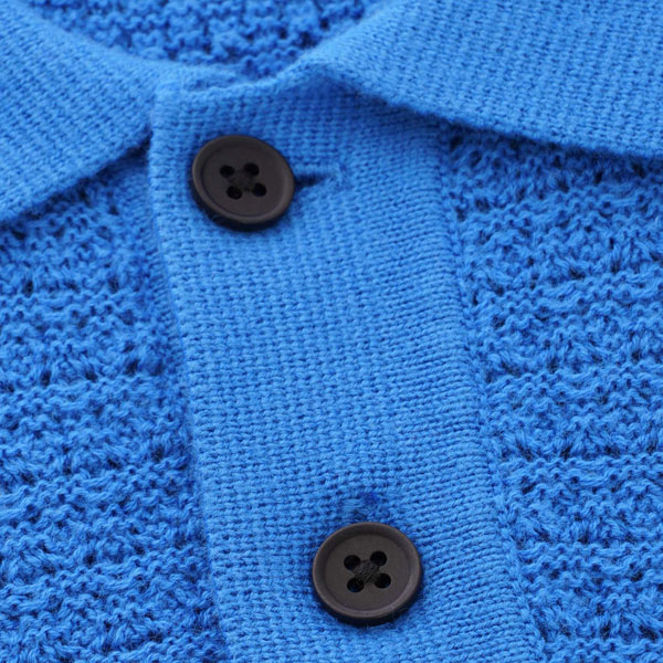 Levi's vintage-style crochet stitch polo shirt