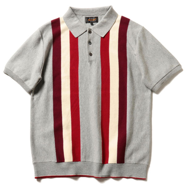 Beams Plus 1960s-style knitted polo shirt