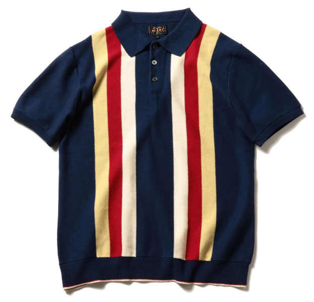 Beams Plus 1960s-style knitted polo shirt - His Knibs