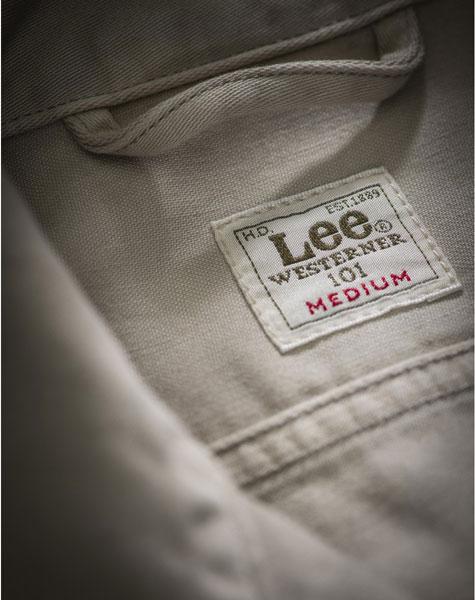 Lee 101 Rider Jacket in Alabaster Stone