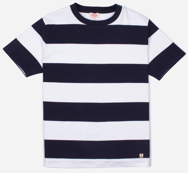 Go heritage with the Armor-Lux bold stripe t-shirts