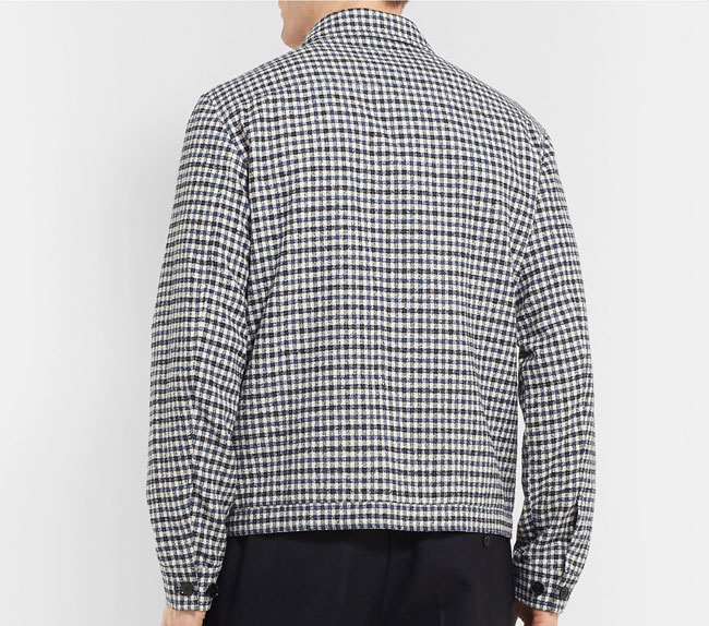 Checked cotton-blend blouson jacket by Mr Porter