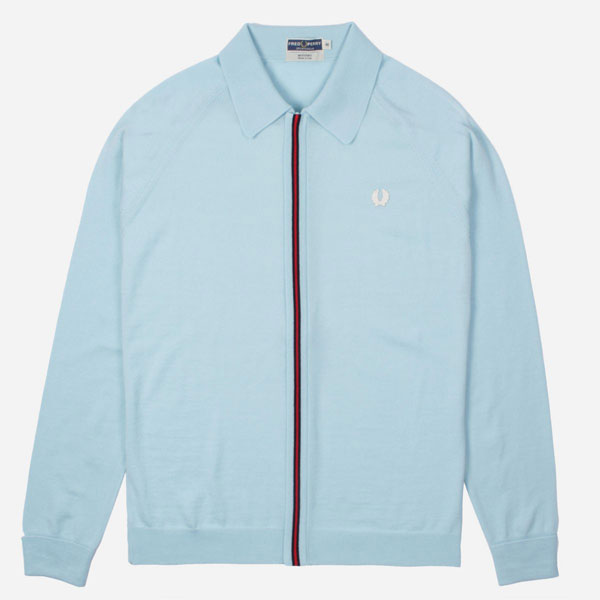 Fred Perry zip-through Italian knitted cardigan