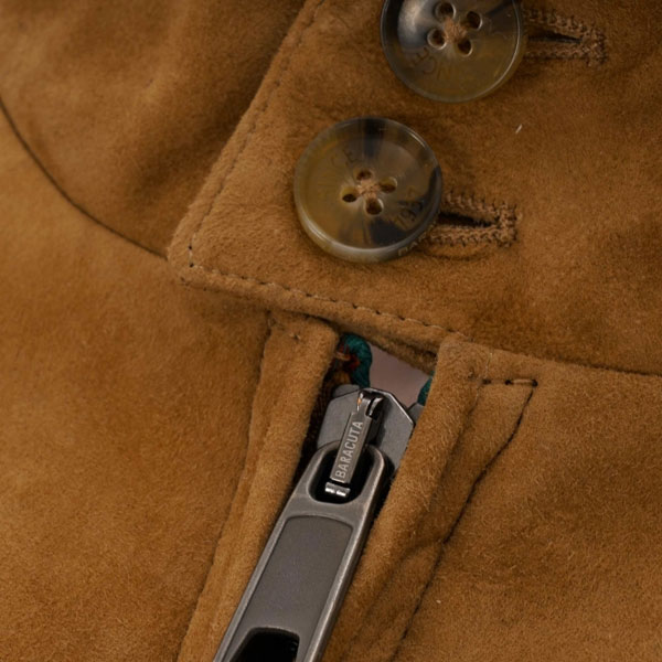 Baracuta G9 suede harrington jacket