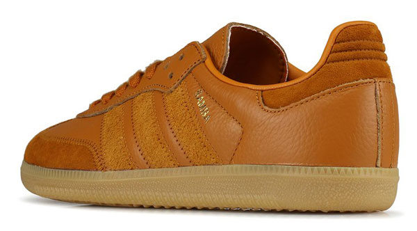 Cita Gracioso Compra  Adidas Samba OG trainers in brown leather - His Knibs