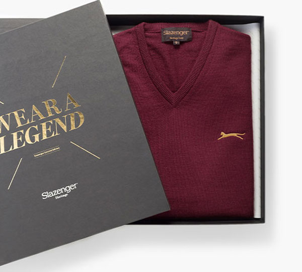 James Bond Goldfinger sweater by Slazenger Heritage