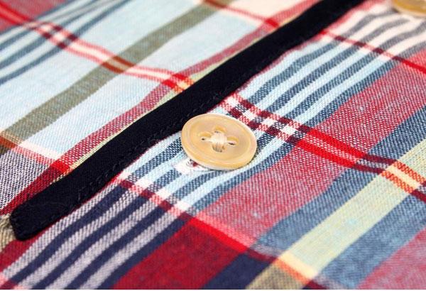 Tahiti short-sleeve henley collar shirt by Capirari