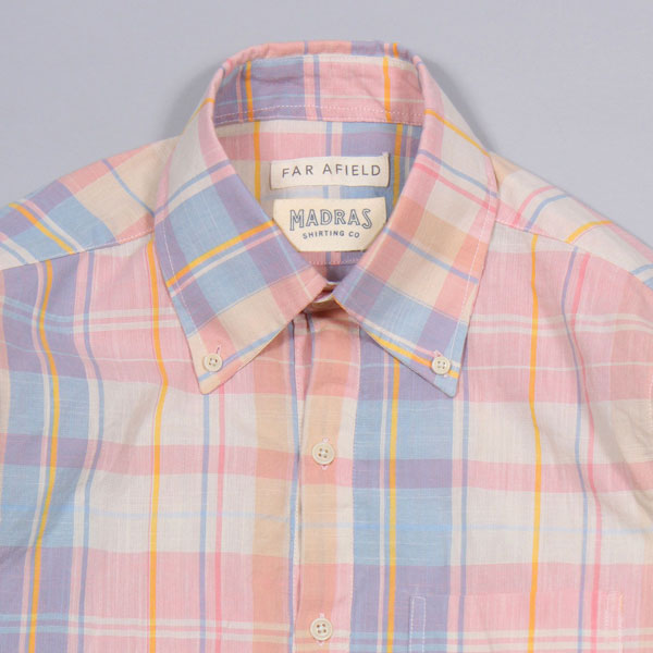 Far Afield x Madras Shirting Co long-sleeve popover shirts