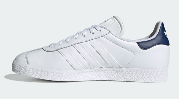 Adidas Gazelle trainers in white leather