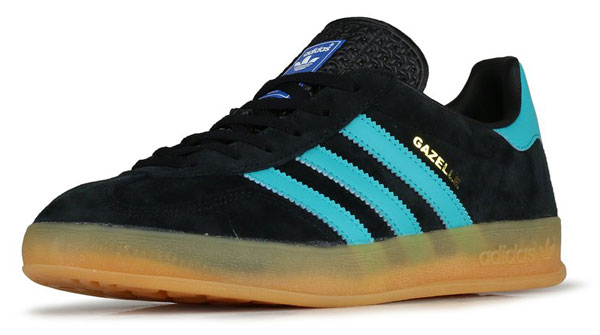 New suede reissues of the Adidas Gazelle Indoor trainers