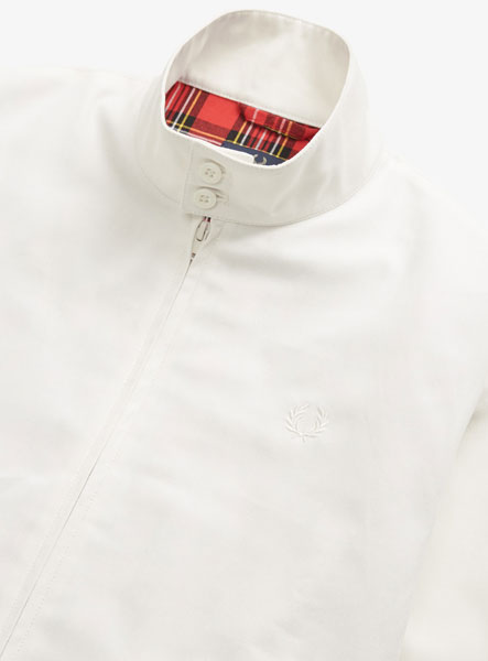 Fred Perry Reissues Harrington Jacket in white