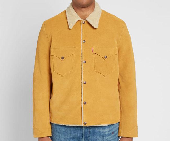 Levi's Vintage suede sherpa jacket