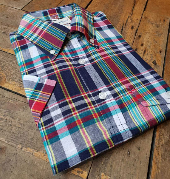 Madras shirts clearance at John Simons