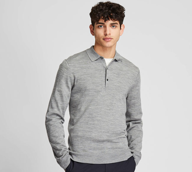 Extra fine merino polo shirts at Uniqlo