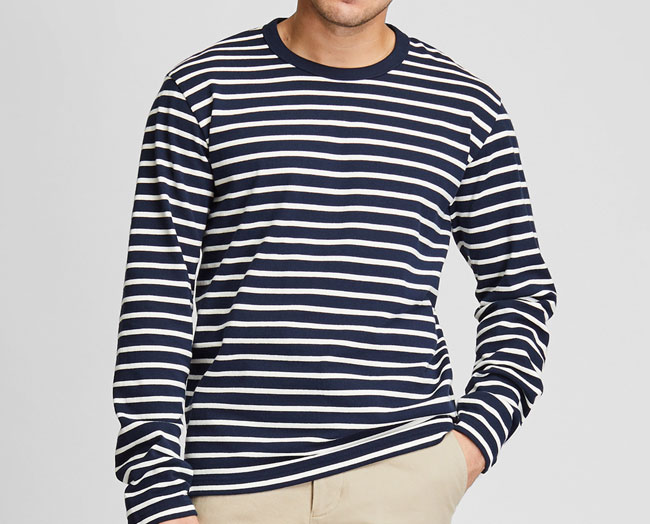 Budget Breton-style tops at Uniqlo