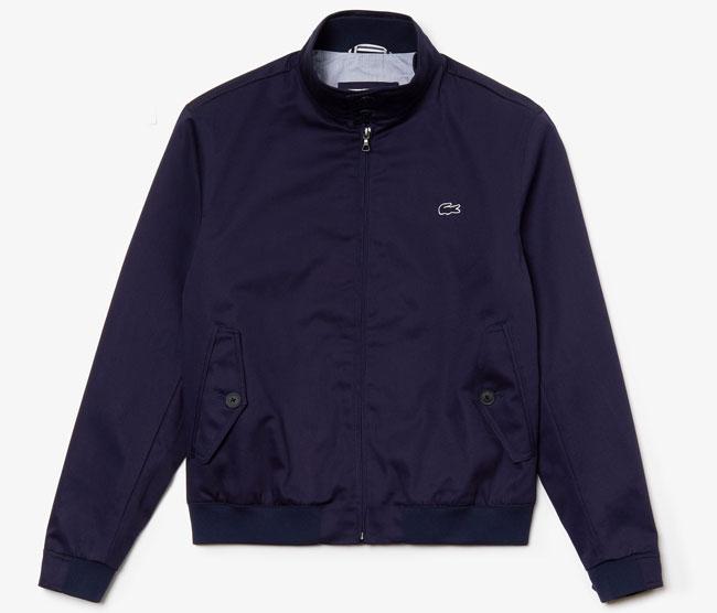 Lacoste cotton twill Harrington Jacket