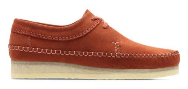 Bargain spotting: Clarks Weaver shoes in brick suede