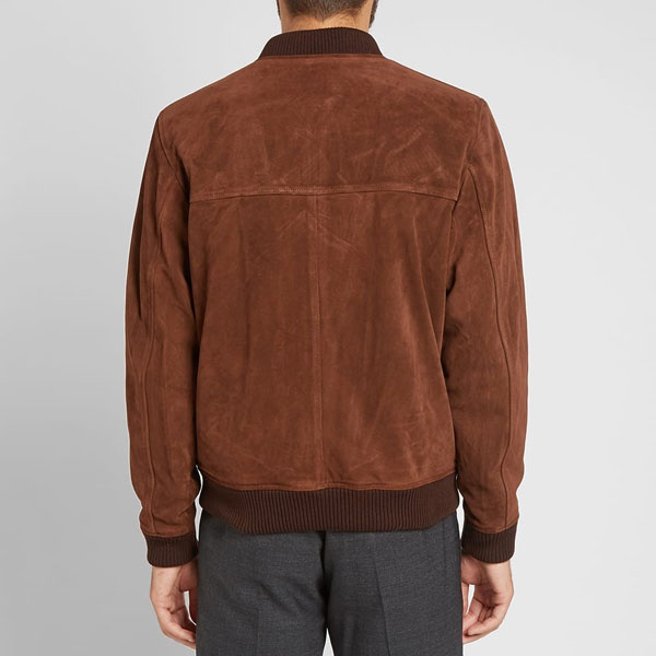 A.P.C. suede bomber jacket