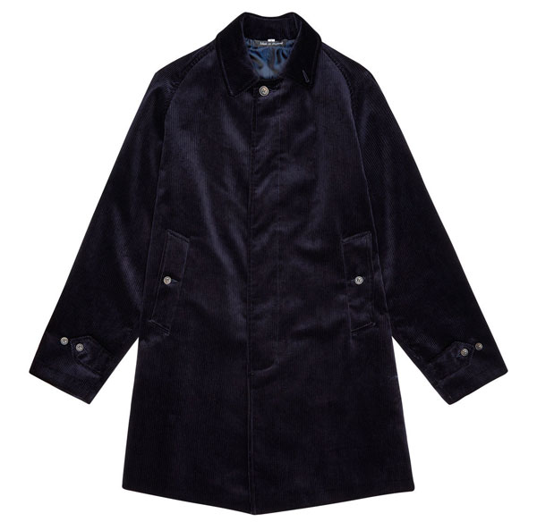 John Simons Made In England cord overcoats