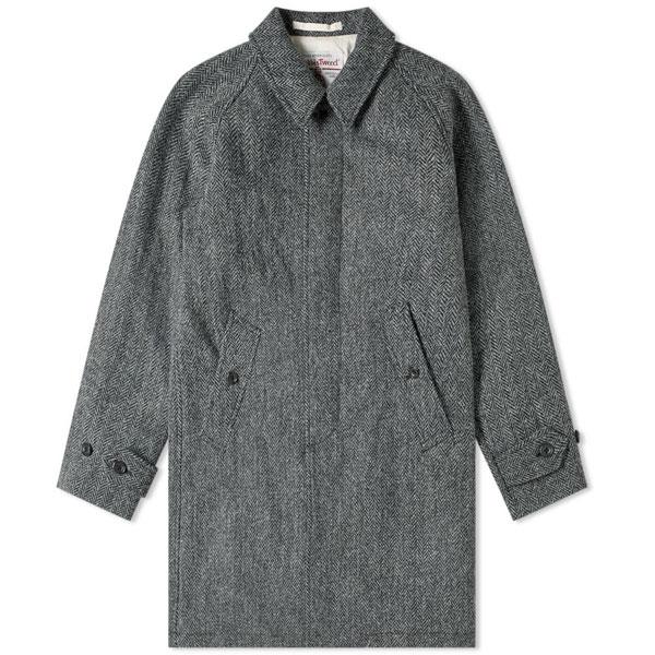 Beams Plus Harris Tweed wool overcoats