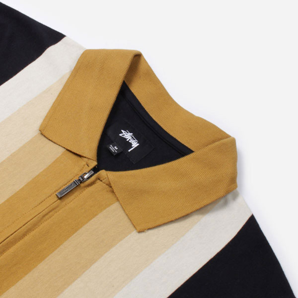 Preston full-zip polo shirt by Stussy