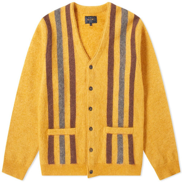 Striped Mohair Cardigan by Beams Plus