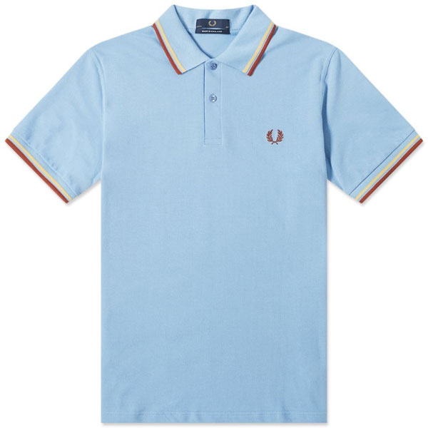 Fred Perry polo shirts in 1970s colours