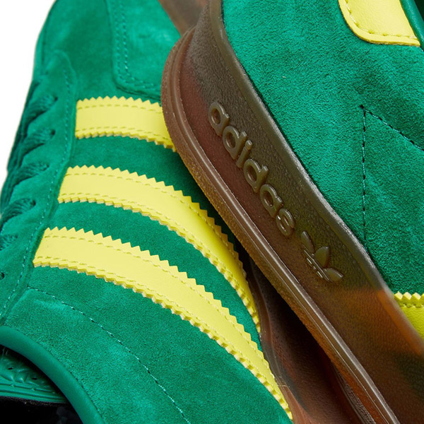 Adidas Gazelle Indoor trainers in green and yellow