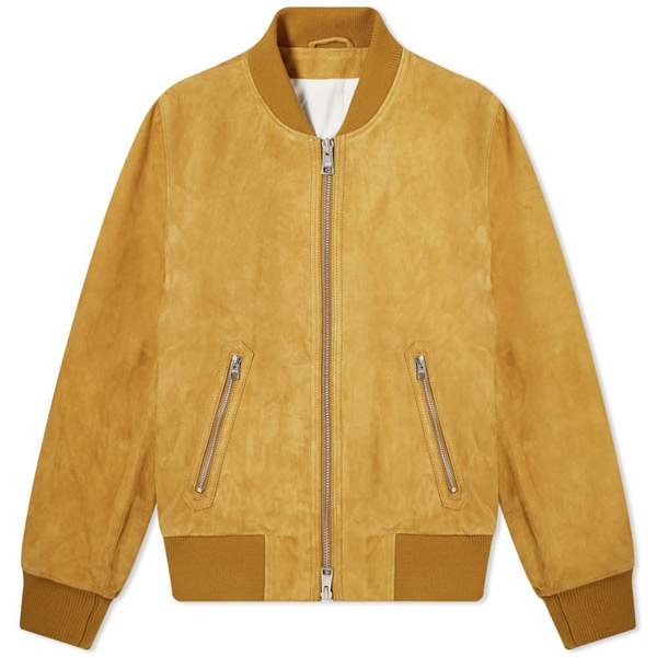 4. AMI Suede bomber jacket