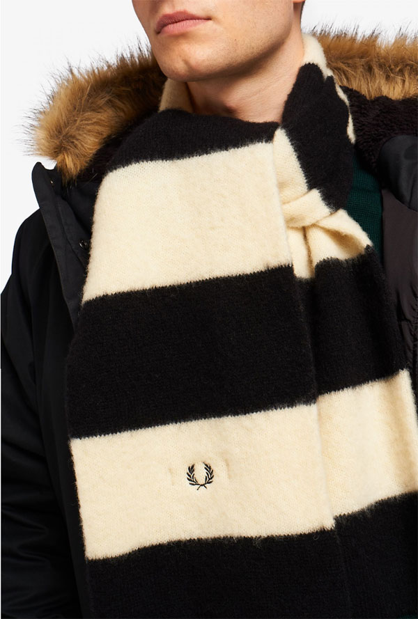 1. Fred Perry old school football scarf