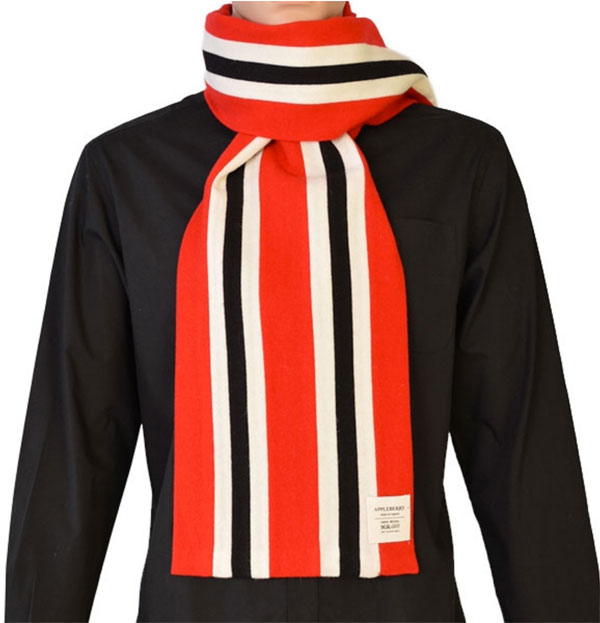 2. Appleberry college-style football scarves