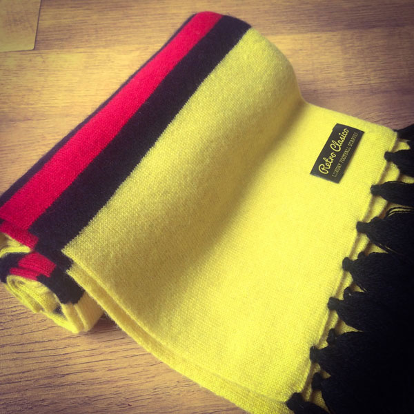3. Merino wool football scarves by Retro Clasico